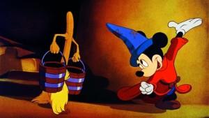 Myszka Miki jako niesforny uczeń czarnoksiężnika