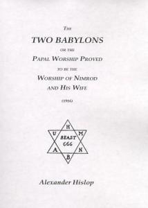 Okładka jednego z niezliczonych wydań Dwóch Babilonów.